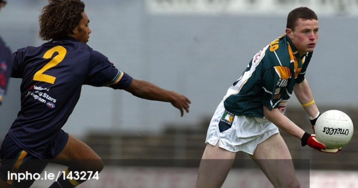 A young Hanley at the '05 International Rules. Picture: INPHO.
